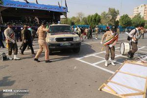 فیلم/ لحظه تیراندازی در رژه اهواز