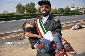 عکس/ مجروحیت کودک اهوازی در حمله تروریستی