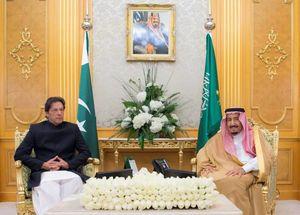 دیدار عمران خان با شاه سعودی