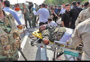 عکس/ مجروحیت یک جانباز در حمله تروریستی اهواز