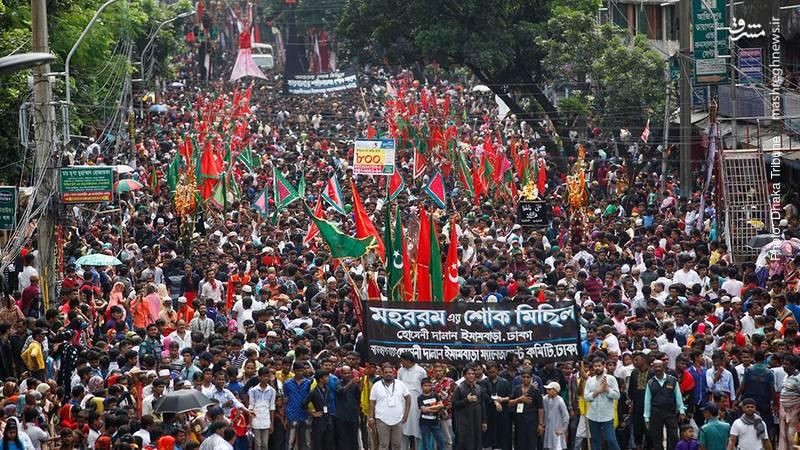 اجتماع عزاداران حسینی بدون قمه و تیغ در داکا، پایتخت بنگلادش