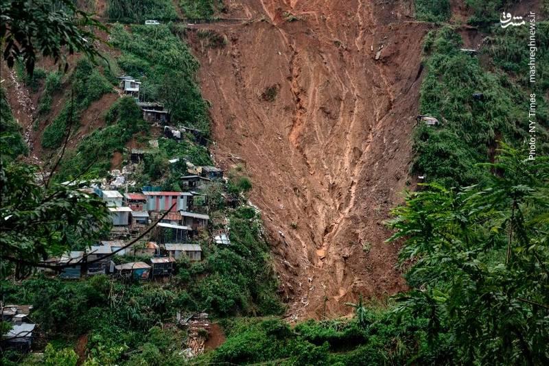 رانش مرگبار زمین در معدن فیلیپین بر اثر طوفان گرمسیری