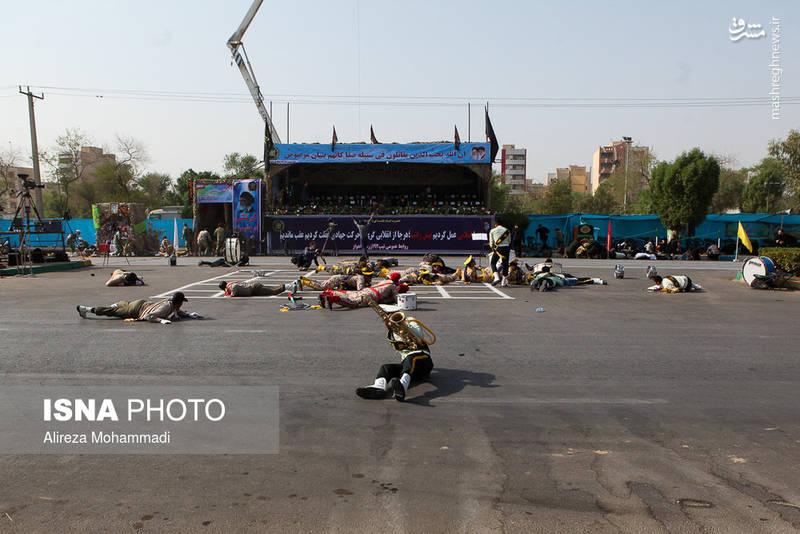 تصاویری از حمله تروریستی امروز اهواز