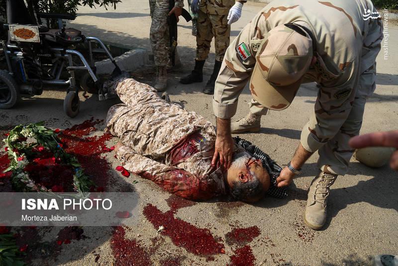 تصویری از شهید شهید علی لویمی باقری پس از شهادت