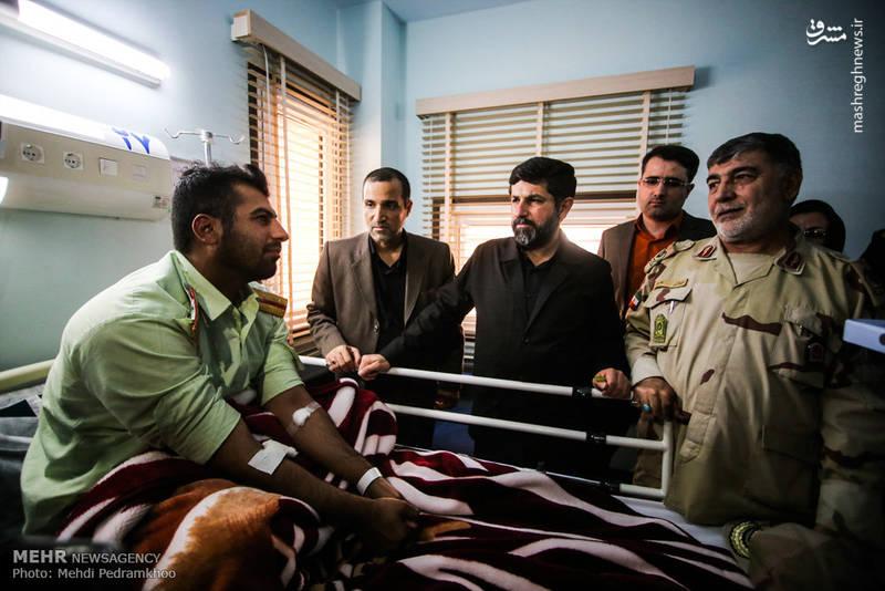 عیادت از مصدومان حمله تروریستی اهواز