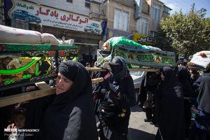 عکس/ کاروان زنان بنی اسد در قزوین