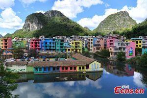 روستای رنگارنگ در چین