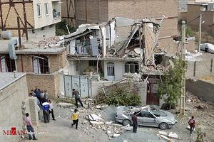 عکس/ انفجار گاز در ساختمان مسکونی در سنندج