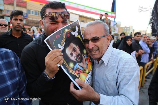 عکس/ تشییع با شکوه شهدای حادثه تروریستی اهواز