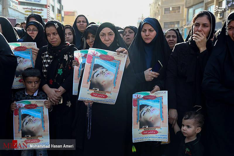 تصاویر/ تشییع با شکوه شهدای حادثه تروریستی اهواز
