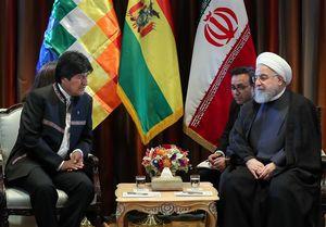 """روحانی و """"مورالس"""" بر تقویت مناسبات ایران و بولیوی تاکید کردند"""