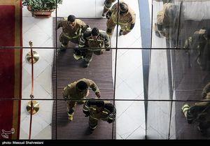 عکس/ آتش سوزی در هتل لاله
