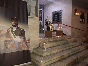 عکس/ ادای احترام ایرانیهای مقیم گرجستان به شهدای اهواز
