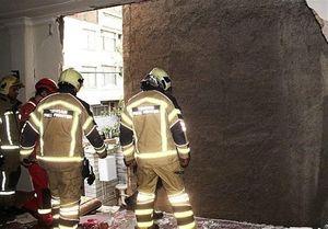 تخریب منزل مسکونی بر اثر انفجار گازشهری + عکس