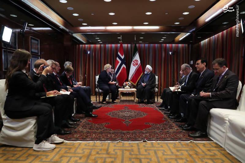 دیدار نخست وزیر نروژ با روحانی
