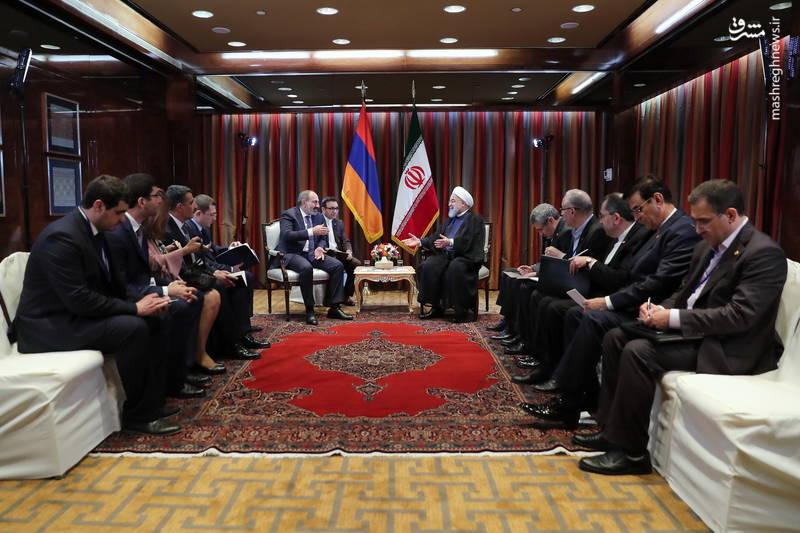 دیدار نخست وزیر ارمنستان با روحانی