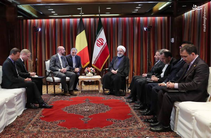 دیدار نخست وزیر بلژیک با روحانی