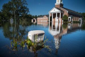 عکس/ ایالت کارولینا 2هفته پس از طوفان فلورنس