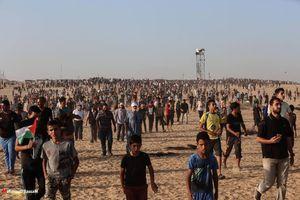 مشارکت ساکنان غزه در تظاهرات بازگشت