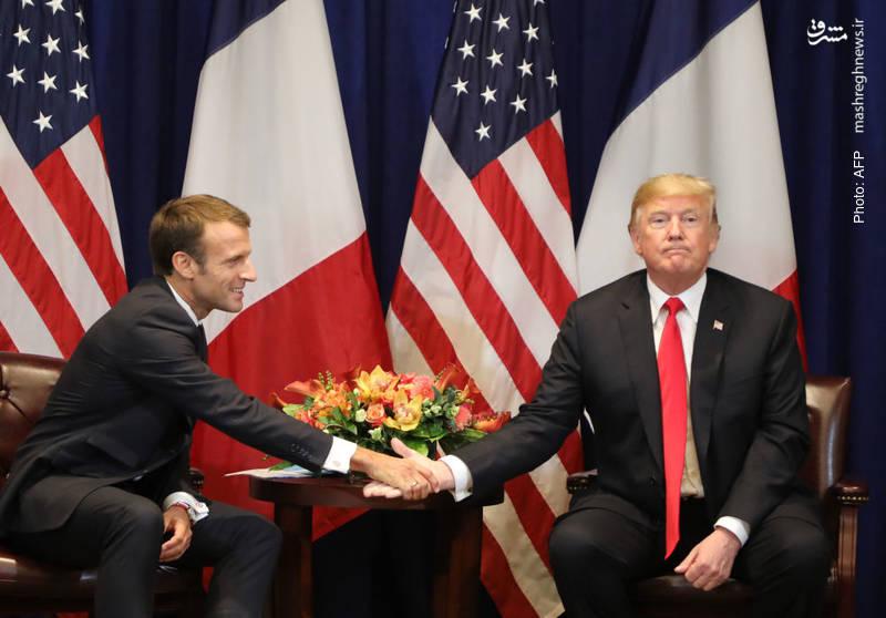 دیدار رؤسای جمهور آمریکا و فرانسه در سازمان ملل