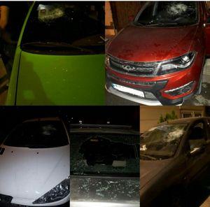 عکس/ حمله اوباش ورامین به چندین خودرو