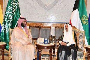 دیدار امیر کویت و ولیعهد سعودی +عکس