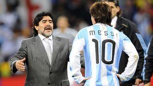 مارادونا: مسی دیگر به تیم ملی باز نگردد