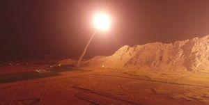 نخستین تصاویر از محل اصابت موشکهای سپاه به مقر تروریستها در شرق فرات منتشر شد