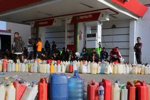 عکس/ صف بنزین