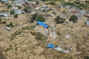 تصاویری پهپادی از ویرانی بجا مانده از سونامی!