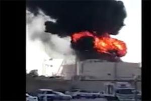 فیلم/ آتش گرفتن یکی از نیروگاههای برق ریاض!
