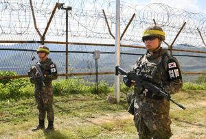 عکس/ جمعآوری ۸۰۰ هزار مین در مرز دو کره
