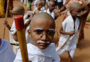 عکس/ مراسم بزرگداشت «گاندی» در هند