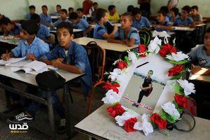 عکس/ جایخالی شهید فلسطینی در کلاس درس