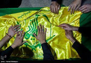 عکس/ وداع با پیکر شهید مدافع حرم «محمود حیدری»