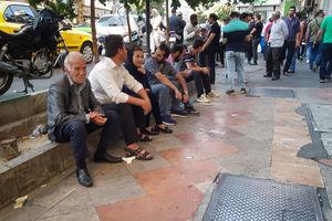 فیلم/ صف خرید دینار در میدان فردوسی تهران