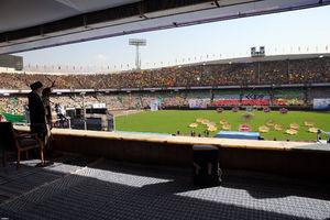 عکس/ حضور رهبر انقلاب در اجتماع دهها هزار نفری بسیجیان در ورزشگاه آزادی