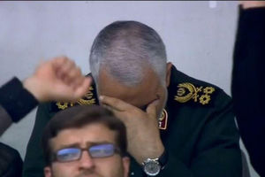 اشک های حاج قاسم سلیمانی هنگام سخنرانی رهبرانقلاب