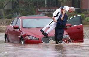 """عکس/""""طوفان رزا"""" فونیکس وآریزونا را زیر آب برد!"""