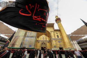 عکس/ مراسم عزاداری شهادت امام سجاد(ع) در نجف