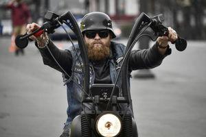 عکس/ دورهمی موتورسواران در روسیه