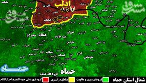 واکنش قاطع ارتش سوریه به نقض آتش بس/جزئیات دفع حملات سنگین تروریستها در شمال استان حماه + نقشه میدانی