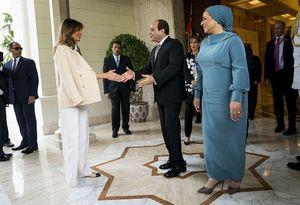 عکس/ دیدار همسر ترامپ با عبدالفتاح السیسی
