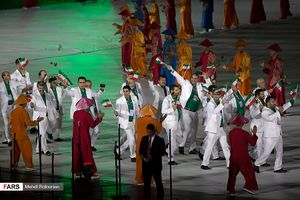 عکس/ مراسم افتتاحیه بازیهای پاراآسیایی جاکارتا