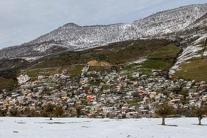 فیلم/ بارش برف در ارتفاعات آمل