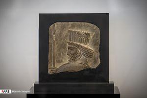 عکس/ رونمایی از سردیس 2500 ساله سرباز هخامنشی
