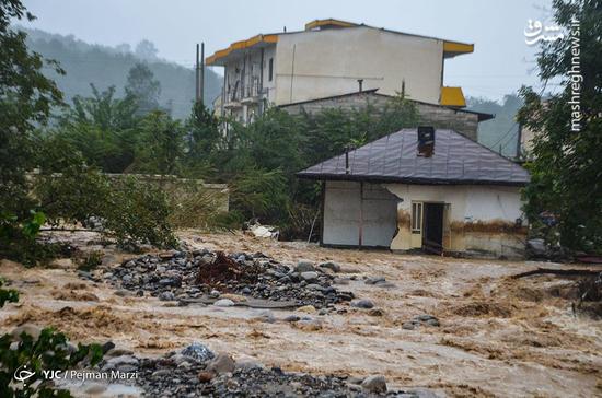 عکس/ خسارات سنگین سیل در تنکابن