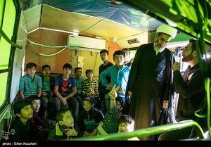 عکس/ بازدید معاون قوه قضاییه از مدرسه کودکان کار