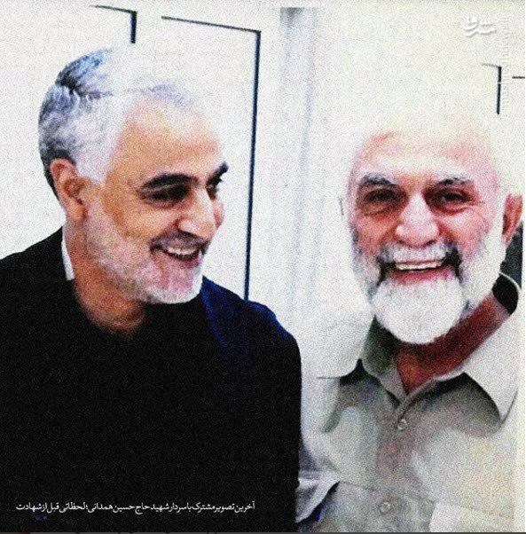 سردار حسین همدانی در کنار سردار قاسم سلیمانی در سوریه