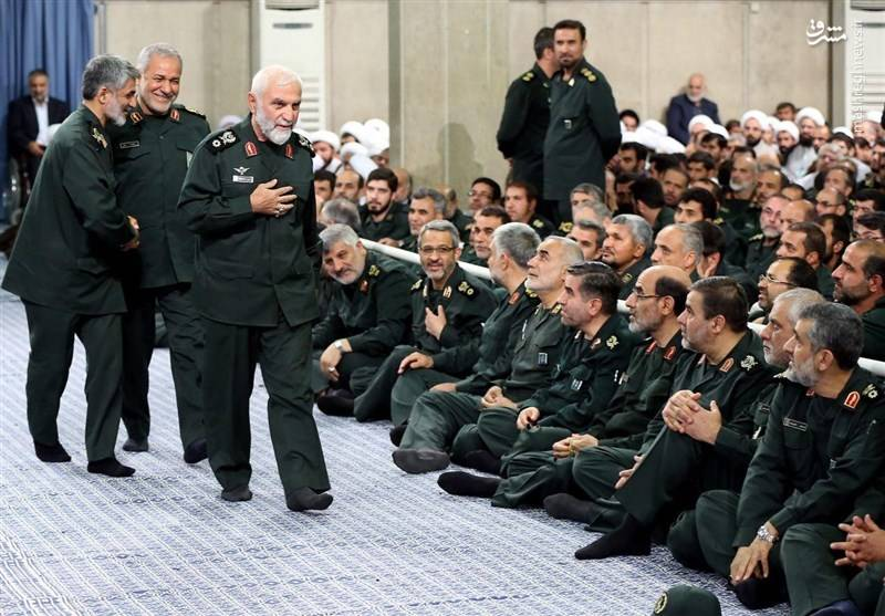 سردار حسین همدانی در دیدار فرمانده سپاه پاسداران با رهبر معظم انقلاب